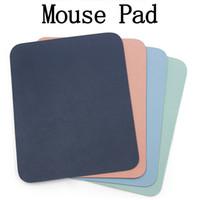 Mat Mouse Tapis 23 * 19cm Universal Simple Bureau Pad Cuir PU Appareil imperméable mignon petit tapis de souris optique pour ordinateur portable Tablet PC