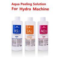 Aqua Peeling Solution 400 ملليلتر لكل زجاجة Hydra Dermabrasion Hydrafacial آلة مصل الوجه التطهير البثرة الصادرات السائل للجلد العادي