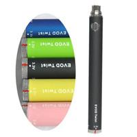 EVOD Twist commercio all'ingrosso della batteria Tensione variabile 3.3V-4.8V 650mAh 900mAh 1100mAh 1300mAh Compatibile con tutte le serie eGo E vaporizzatore sigaretta