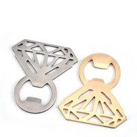 El anillo de diamante en forma de abridor de botellas Abridor de botella de cerveza de acero inoxidable de diamante Ahuecar abridor de anillo abridor Herramientas de cocina creativas libres de epacket