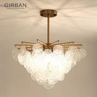 Kristalllampe Einfache Kreative Persönlichkeit Esstisch Esszimmer-Lampe Nordische postmoderne Glas Blume Licht Luxus Kronleuchter