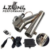 """Universale in acciaio inox 304 2.5"""" /3.0"""" Elettrico Scarico Pluviale ritaglio E-cut-out Dual-Valvola a distanza senza fili JR-EMP86 / 87"""