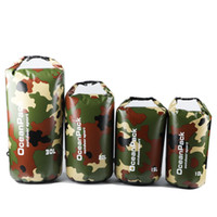 Hot Sale dobrável Camouflage Waterproof Bag 0.52MM 500D PVC Bucket Bag Rafting upstreaming Piscina armazenamento a seco saco para Rio Trekking