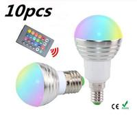 LED 3W RGB küre ampul 16 Renkler RGB ampul Alüminyum 85-265V Kablosuz Uzaktan Kumanda E27 kısılabilir RGB Işık renk değişikliği led ampul