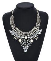 Chunky türkische Lätzchen Aussage Halskette, Frauen Schmuck Mode Halskette Silberne Kette mit antiken Metall für Foto Outfits