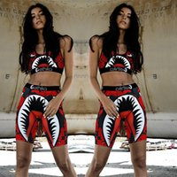 Frauen 2 Stück Ethika Set Badeanzug Shark Swimwear Sport-BH + Shorts Trunk Markenanzug Quick Dry Bademode Bikini Set Cloth