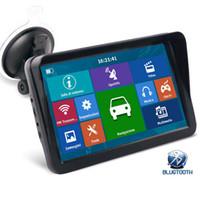 HD Auto 9 tums lastbil GPS Navigator Bluetooth Avin Support Flera fordon Navigering med Sunshade Shield 8GB Kartor