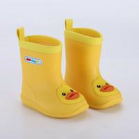 Sale-teto Hot Bota Wellies água da chuva PVC anti-derrapante botas Crianças Rapazes Raparigas Four Seasons Chuva Shoes EUR Tamanho 24-31