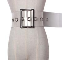 Новый европейский и американский стиль мода дикий прозрачный ремень ПВХ женский широкий ремень пояс ремень пояснил женские модные аксессуары ремень JK43W
