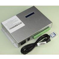 T300K T300K SD 카드 온라인 VIA PC RGB 풀 컬러 LED 픽셀 모듈 컨트롤러 8ports 8192 픽셀 ws2811 ws2801 ws2812b