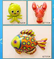Sea Animal Foil Balloon Shark Whale Lobster Octopus Fish Col...