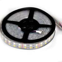 5050 RGBW RGBWW Şerit LED Işık 5M 600LEDs Çift Sıra Su geçirmez 600LEDs RGB + Beyaz Sıcak Çoklu Renk Değişimi