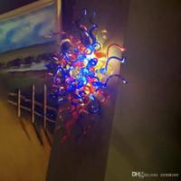 Турция Дизайн Цветные муранского стекла Светодиодные стены Бра Art Deco выдувное стекло стены офиса Цветные муранского стекла Светодиодные стены Бра