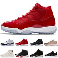 Concord 45 23 11s Gym Red Cap und Gown Men Basketball-Schuhe Niedrige Rose Gold Bred Barons Space Jams 11 Herren Sport Sneakers Designer-Trainer