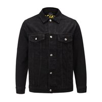 uyiu Mens Denim Jacket Famous Men High Quality Casual Coats Black Fashion Mens Jacket Stylist Outwear Size S-XL