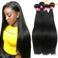 Mink Brazilian Virgin Hair Straight 4 Bundles Cabelo Humano Tece Não Transformados Brasileiro Peruano Peruano Malaio Indiano Hetero Bundles