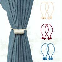 Cortina Gravatas Cowhells magnética ímã prende Curtain Strap magnética Cortinas Buckle triagem janela Bola Clip Holder Curtain Hooks YP380