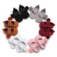 2019 Son Çocuk Giyim Yenidoğan Yürüyor Bebek Kız Bebek Yumuşak Sole Sahte Yatağı Ayakkabı Sneaker Prewalker Kürk Topu Birinci Walker