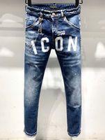 DSQ Phantom Tortue Classic Fashion Homme Jeans Hip Hop Rock Moto Mens Casual Design Décontracté Jeans Détresse Skinny Denim Biker DSQ Jeans 6919