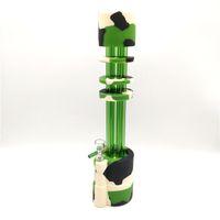 Nuovo popolare ultimo disegno di tubi in silicone per tubi dell'acqua Dab Rigs con 1 ciotola di vetro per fumo 14mm giunto 3 colori Scegli