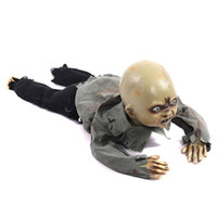 Animated Crawling Baby Zombie Scary Ghost Babies Doll Haunte...
