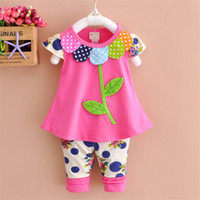 Baby Girls Sets 2019 Fashion Summer Cute Embroidered Leaves ...