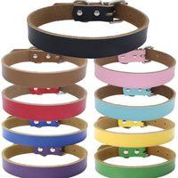 جديد 9 ألوان عالية الجودة نقية رعاة البقر قلادة الحيوانات الأليفة جلد ثخين سلسلة كلب الجر ملحقات الكلب T2I5101