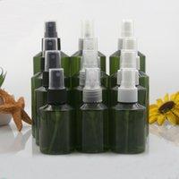 Verpackungsflaschen 10 stücke 50ml 100ml 150ml 200ml Kunststoff dunkelgrün leerer Haustier Spray mit 3 Farben Spritzlicht Vermeiden von Nebel Flasche Reisen