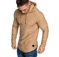 Goocheer Hommes Gym culturisme Sweats à capuche Sweat-shirt Mode Vêtements de sport en coton solide séance d'entraînement à capuchon mince