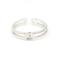 Мода реального стерлингового серебра женщин жемчужное кольцо крепления размер регулируемый S925 DIY ювелирные изделия кольца свадьба обручальное кольцо для женщин JZT004