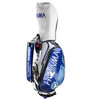 Nuevos hombres imitados Edición Bolso de golf Honma Golf Cart Bag Color Blue 9.5 Inch Clubes de PU Golf Bolso estándar Envío gratis