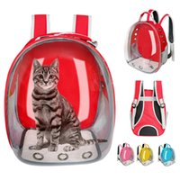 Portador del gato bolsa transpirable cachorro de gato transparente Mochila los gatos Caja jaula de perro pequeño recorrido del animal doméstico del portador del bolso Cápsula espacial