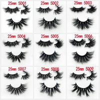 25mm 5D Mink Lashes Handmade Full Strip Lashes Crisscross Dr...