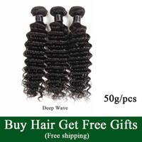 Brut indien vierge cheveux vendeurs eau vague humaine cheveux tissés bundles pas cher brésilien péruvien péruvien remy extensions de cheveux profondes vague
