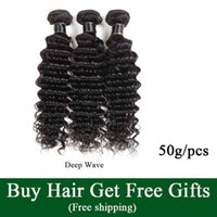 Raw Indian Virgin Capelli Vendi Capelli Acqua Wave Human Hair Weaves Bundles Cheap Brasiliano Peruviano Malesian Remy Remy Extensions Onda profonda