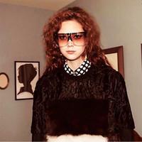 패션 여성 남성 새로운 스타일 오버 사이즈 스퀘어 선글라스 안티 - 자외선 일 보호 안경 안경 레이디 선글라스