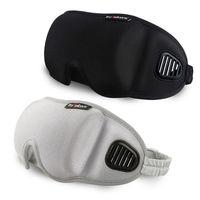 3D 눈 커버 수면 마스크 눈 가리개 여행 사무실 수면 여성 남성 고글 통기성 부드러운 조절 안대 블랙 눈가리개 RRA1868