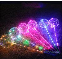 Bobo Kugel-LED-Leuchten Bälle mit Stielgriff 3M String Balloons Für Weihnachten Hochzeit Geburtstag Zuhause-Party-Dekoration DHL blinken