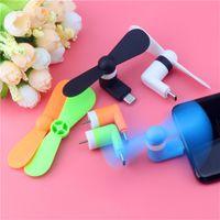 Reisen Tragbare Mobiltelefon Mini Fan Kühlerkühler 3 in 1 Fans Micro USB für Huawei Xiaomi Smartphonetyp c Android-Telefone S10