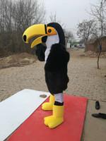 Sıcak Yüksek Kalite Gerçek Resimler Deluxe ToCo Toucan Maskot Kostüm Maskot Karikatür Karakter Kostüm Yetişkin Boyutu Ücretsiz Kargo