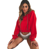 Early Autumn Sweatshirts Women Solid Color Short Hoodies Fas...