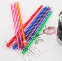 230 * 7mm AS Kunststoff Stroh reine Farbe gerade Strohhalm Umwelt Geburtstag Party Dekoration wiederverwendbare Strohhalme schnell Lieferung
