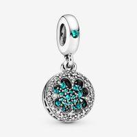 Yeni Geliş% 100 925 Gümüş Şanslı dört yapraklı yonca Dangle Charm Fit Orjinal Avrupa Charm Bilezik Moda Takı Aksesuar