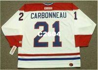 Mens #21 GUY CARBONNEAU Montreal Canadiens 1993 CCM ретро домашний хоккей Джерси или обычай любое имя или номер ретро Джерси