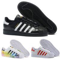 meet ac77a 8fe0e 2018 zapatos de Superstar para mujer para hombre Zapatillas de deporte  nuevos Zapatos para caminar ocasionales