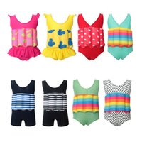 Baby Swimwear Striped Girl Floating Swimsuits One Pieces Dot...