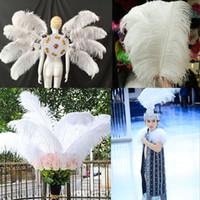 10-12 дюймов Белый страус перья для ремесел карнавал партии Хэллоуин свадебные украшения Ювелирные изделия плюмажи DLH236