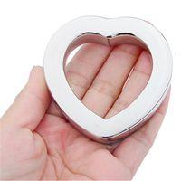 Cock Ring in acciaio inox sfera scroto barella pene di blocco di metallo Anello bondage ritardare l'eiaculazione BDSM Sex Toys per l'uomo