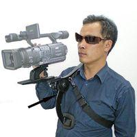 Freeshipping Profesional Nuevo Soporte de Estabilizador de Captura de Vídeo Hombro Rig Para Canon Nikon DV DSLR HD Cámara de Cámara Digital
