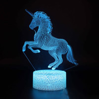 3D Optical Illusion Lamp Night Light Touch 7 Color Change Ho...
